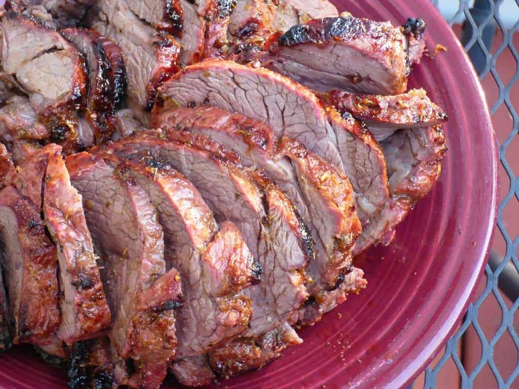 Rotisserie Boneless Leg of Lamb Roast with Greek Brinerade - Dad Cooks ...