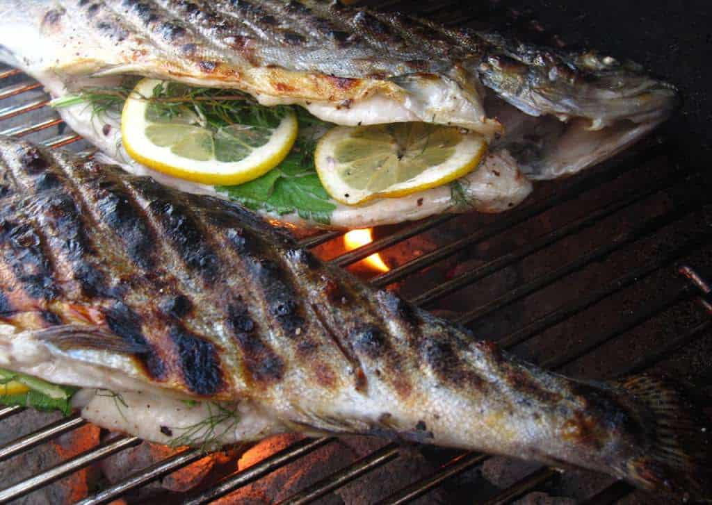 Stuffed Grilled Trout Recipe — Dishmaps