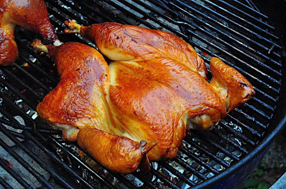 Grilled Butterflied Chicken With Dry Brine Dad Cooks Dinner