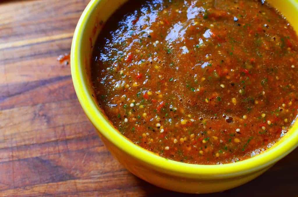 Grilled Tomato Tomatillo Salsa Dad Cooks Dinner