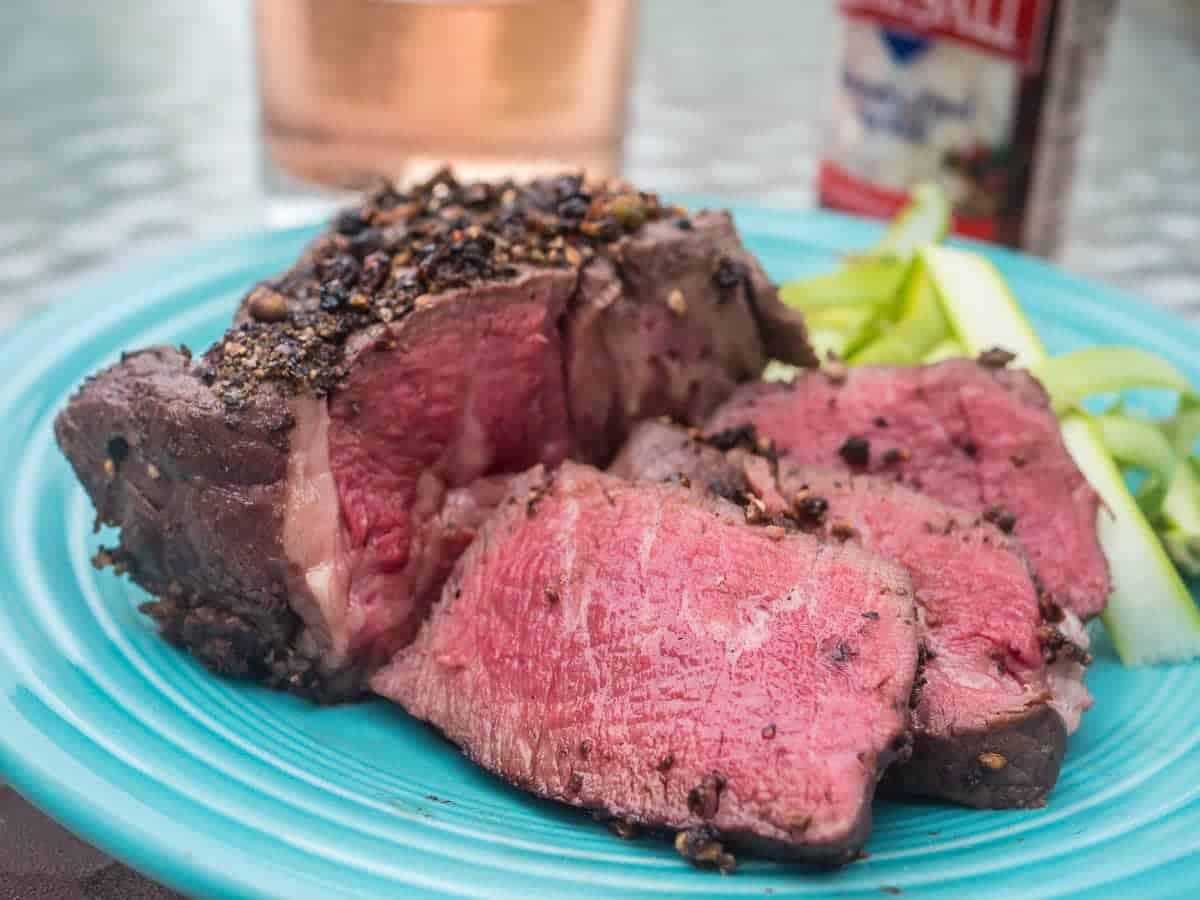 Sous Vide Peppercorn Filet Mignon - Dad Cooks Dinner