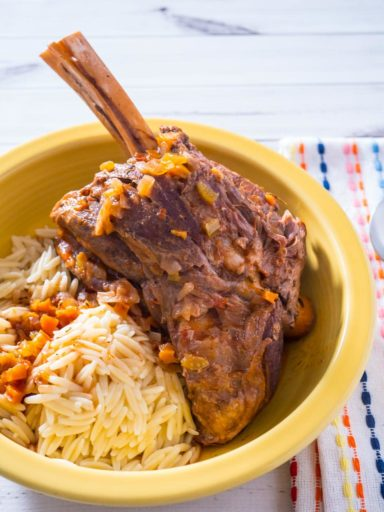 Pressure Cooker Greek Lamb Shanks with Tomatoes (Arnaki Kokkinisto ...